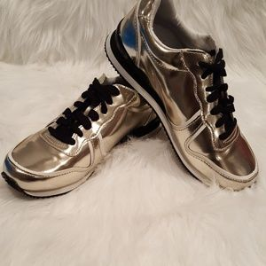 BRAND NEW Brushed Metallic Sneakers